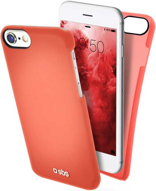 Клип-кейс SBS Apple iPhone 8 тонкий пластик Red клип кейс sbs apple iphone 8 plus тонкий пластик pink