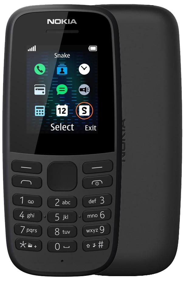 Мобильный телефон Nokia 105 (без ЗУ) black
