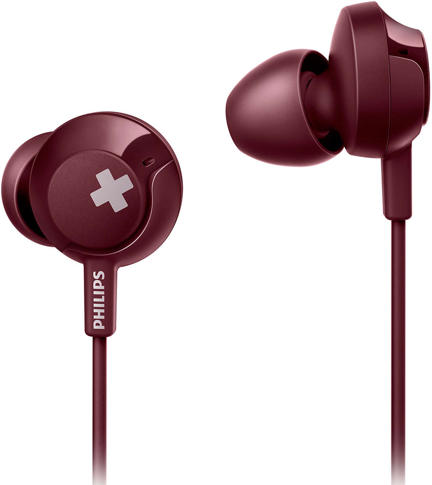 цена на Наушники с микрофоном Philips SHЕ4305 Red
