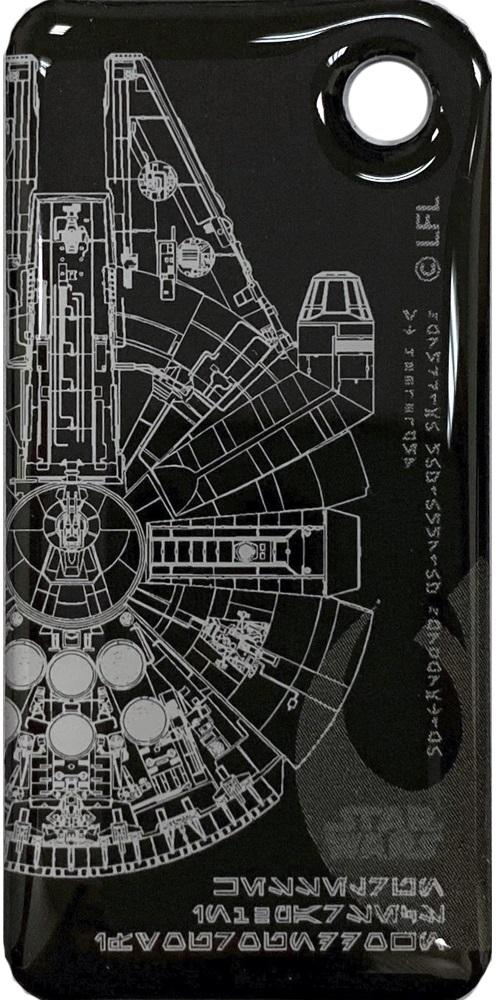 Брелок Тройка с чипом Звездные воины Сокол принт фото