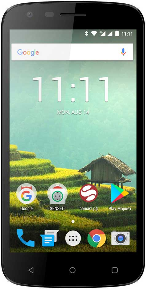 Смартфон Senseit N151 Black мобильный телефон senseit р300 black
