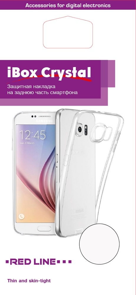 Клип-кейс RedLine Crystal для Samsung Galaxy J7 2017 прозрачный чехол клип кейс redline ibox blaze для samsung galaxy j1 2016 черный [ут000009696]