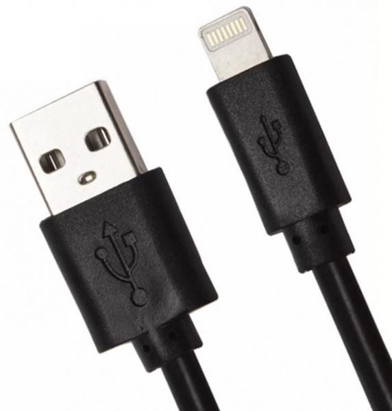 Дата-кабель Smartbuy Lightning 15см Black