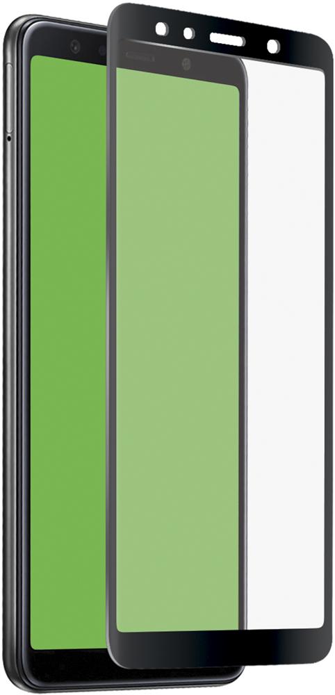 Стекло защитное SBS Samsung Galaxy A7 2018 3D Full Glue черная рамка фото