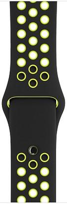 Ремешок для умных часов Apple Watch Nike 38mm силиконовый black-lime (MQ2H2ZM/A) аксессуар ремешок gurdini milanese loop для apple watch 38mm space black 904824