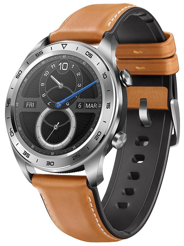 Часы Honor Watch Magic B19V с кожаным ремешком Silver