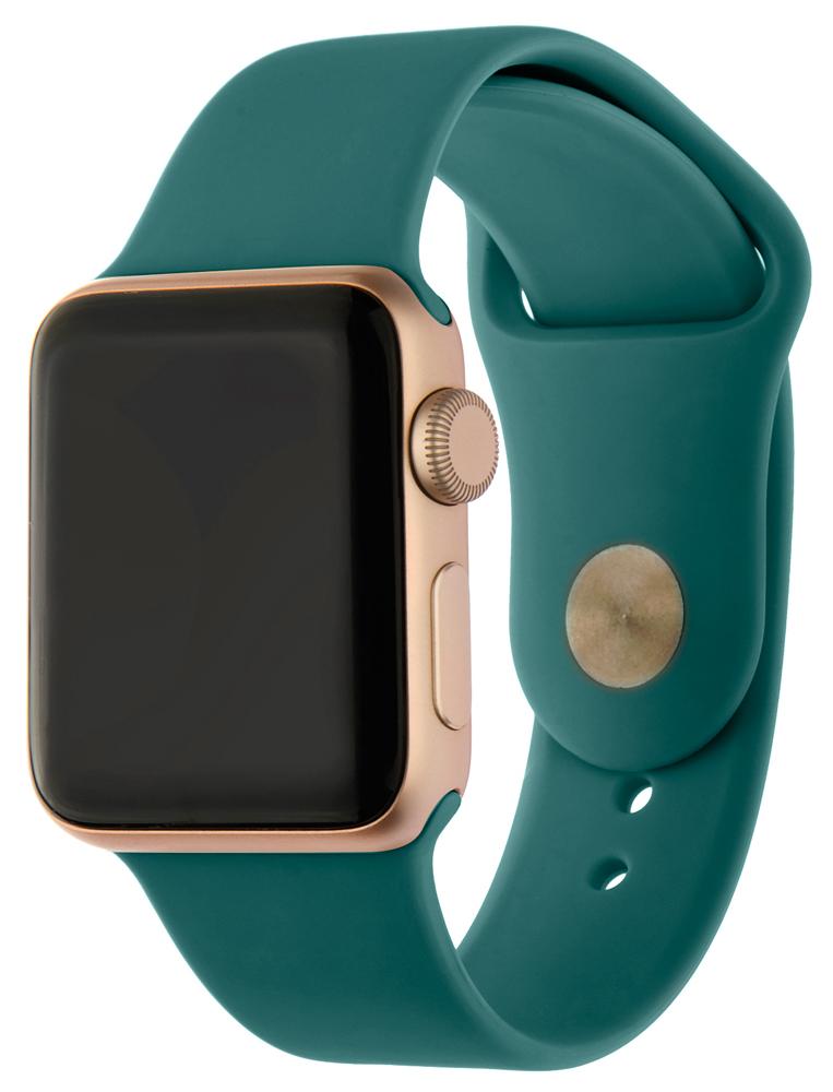 Ремешок для умных часов InterStep Sport Apple Watch 38/40мм силиконовый Green стоимость