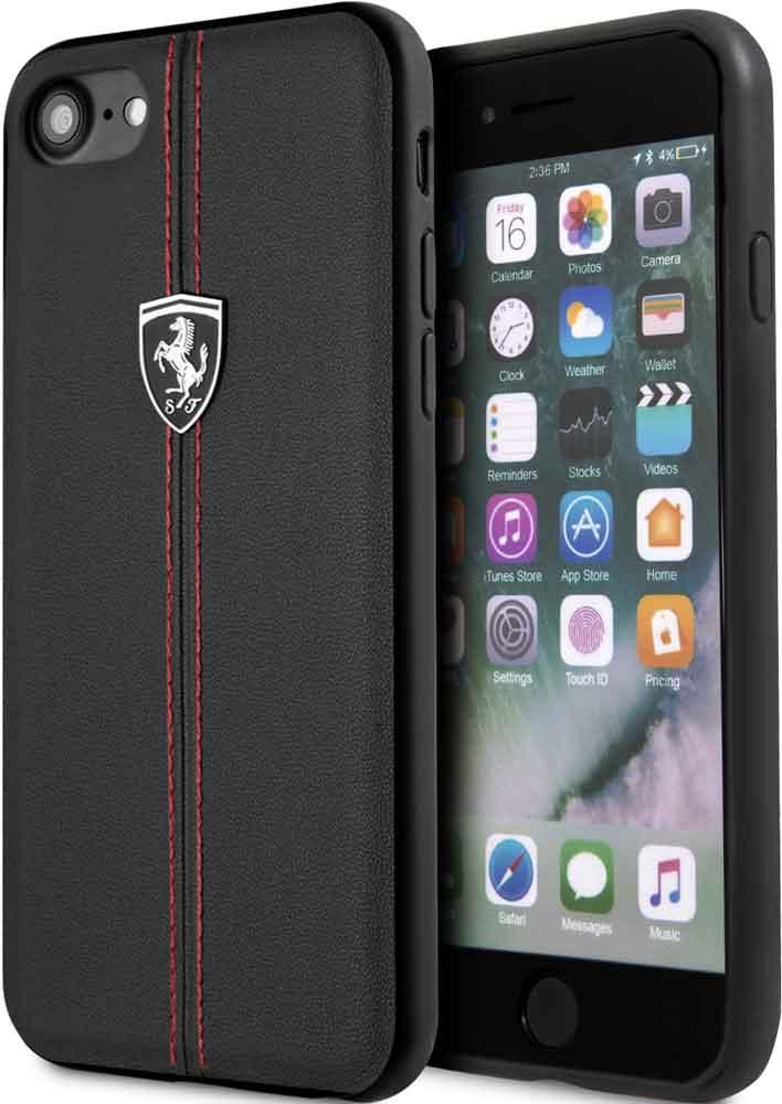 Клип-кейс Ferrari iPhone 7/8 кожа Black цена