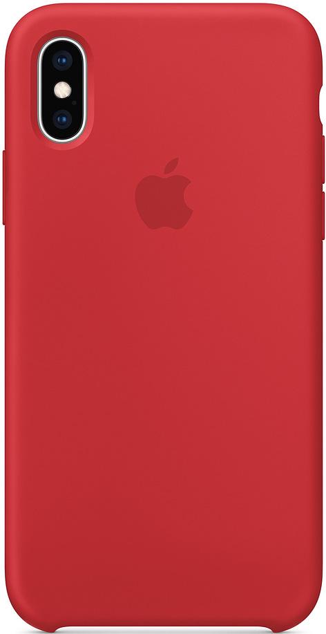 Клип-кейс Apple iPhone XS силиконовый MRWC2ZM/A Red фото