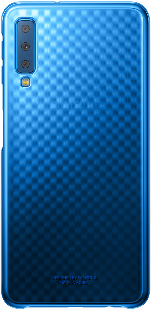 Клип-кейс Samsung Galaxy A7 2018 Blue (EF-AA750CLEGRU) клип кейс inoi prism для samsung galaxy a7 2018 черный