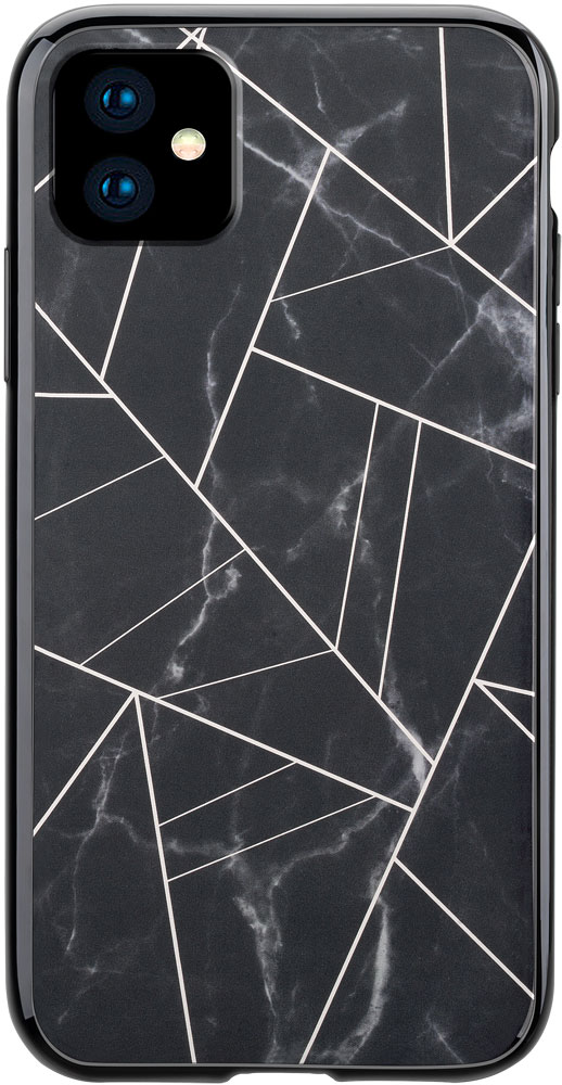 Клип-кейс Habitu iPhone 11 пластик мрамор Black фото