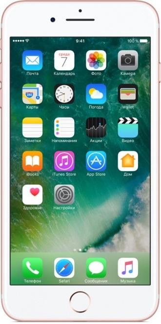 Смартфон Apple iPhone 7 Plus 128GB Rose Gold (MN4U2RU/A)