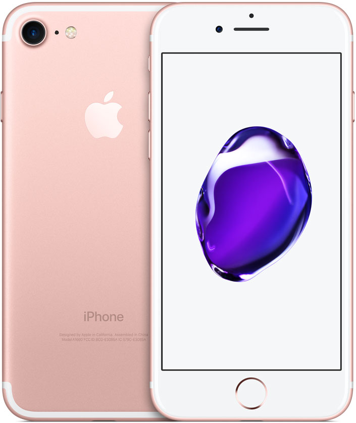 Смартфон Apple iPhone 7 128GB Rose Gold (MN952RU/A) фото
