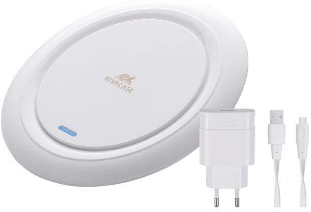 Беспроводное мультизарядное устройство Rivacase VA4914 + СЗУ QC 3.0 + кабель USB-microUSB White сзу samsung usb microusb 1a eta0u80ebegstd