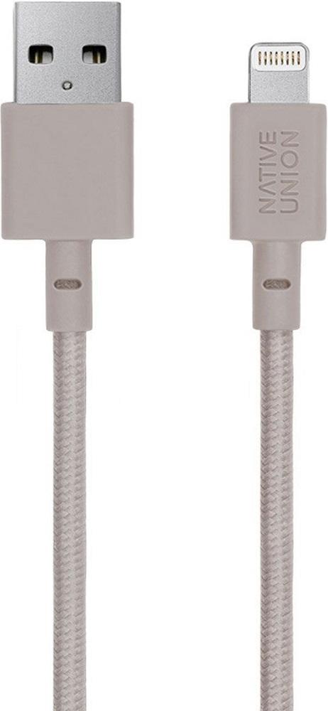 Дата-кабель Native Union Belt Lightning-USB MFI 1,2м Beige цена