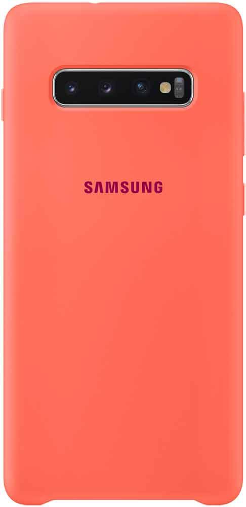 Клип-кейс Samsung Galaxy S10 Plus TPU EF-PG975THEGRU Pink клип кейс itskins samsung galaxy s10 plus green