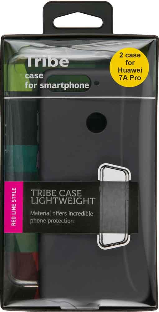 Набор чехлов Tribe Honor 7A Pro силикон+пластик прозрачный/черный