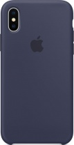 фото Клип-кейс Apple iPhone X силиконовый Dark Blue