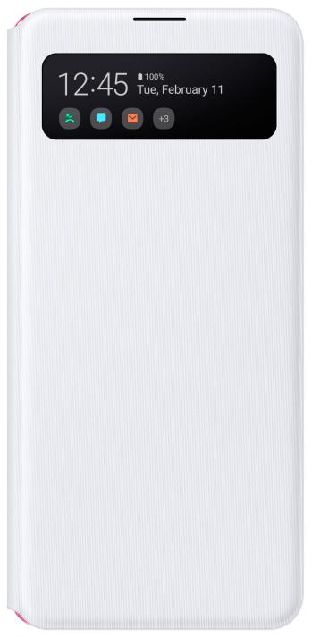 Чехол-книжка Samsung A41 Smart S View Wallet Cover White (EF-EA415PWEGRU) фото