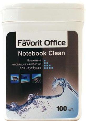 Влажные салфетки Favorit Office для ноутбуков малая туба 100 шт(F430029) цена и фото