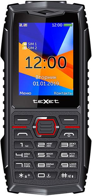 Мобильный телефон teXet TM-519R (2019) Black-Red