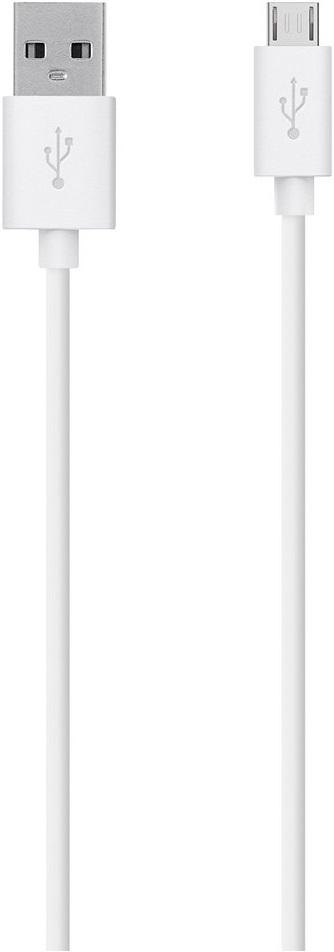 Фото - Дата-кабель Belkin USB-microUSB 2,0м White (F2CU012bt2M-WHT) кабель microusb 1 2м belkin mixit metallic круглый f2cu021bt04 slv