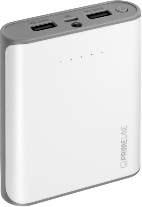лучшая цена Внешний аккумулятор PrimeLine 8000mAh White