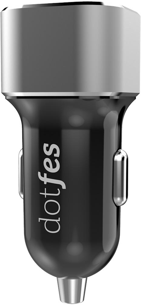 цена на АЗУ Dotfes BO2B 2 USB универсальное 3,1А Grey