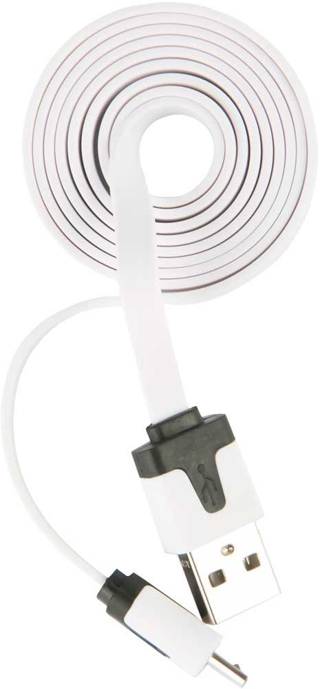 цена на Дата-кабель RedLine USB-microUSB плоский White