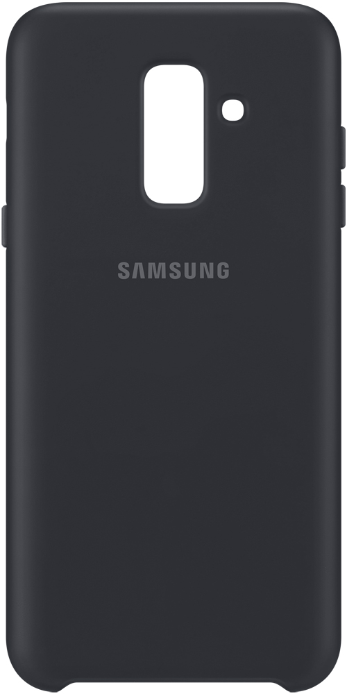 Клип-кейс Samsung Galaxy A6 Plus Dual Layer Cover Black (EF-PA605CBEGRU) клип кейс samsung samsung galaxy j6 dual layer cover black ef pj600cbegru