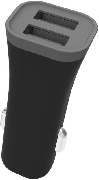 АЗУ Muvit 2 USB 2,4А + Дата-кабель USB-Type-С Black