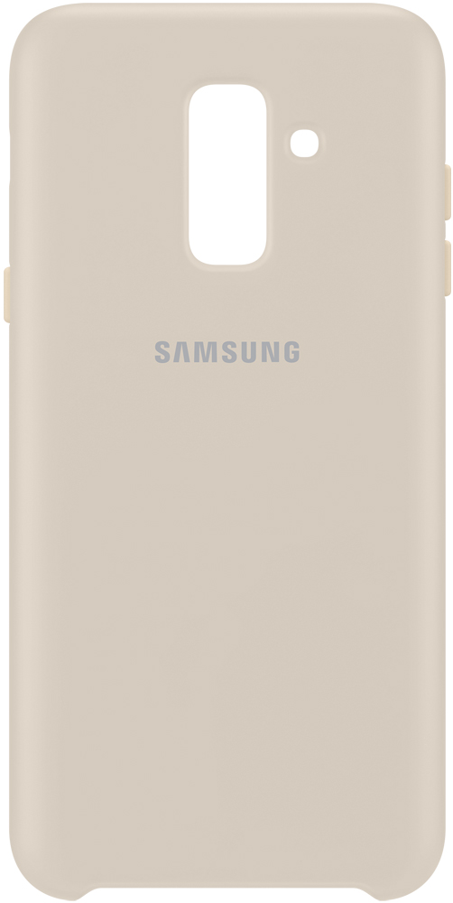 Клип-кейс Samsung Galaxy A6 Plus Dual Layer Cover Gold (EF-PA605CFEGRU) клип кейс samsung galaxy j4 dual layer cover gold ef pj400cfegru