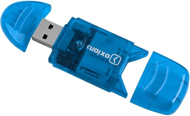 Кардридер Oxion OCR003BL Blue наушники oxion epo101 blue