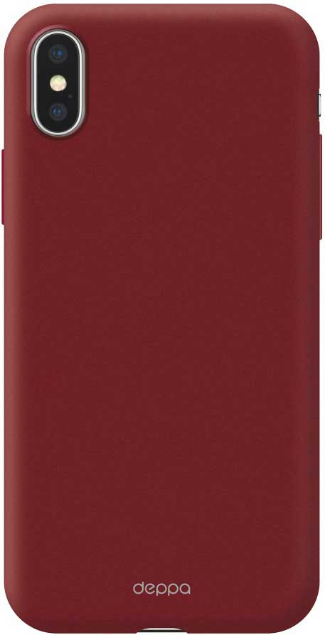 Клип-кейс Deppa Air Case Apple iPhone X Red аксессуар чехол для apple iphone x innovation silicone case red 10302