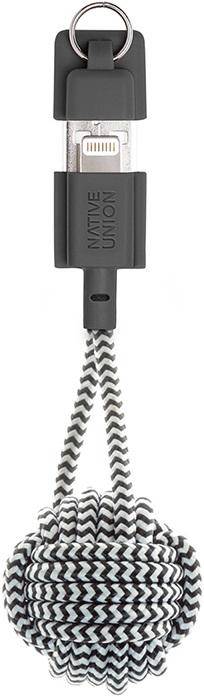 Дата-кабель Native Union Lightning-USB MFI брелок 0,15м зебра кабель брелок lightning синий