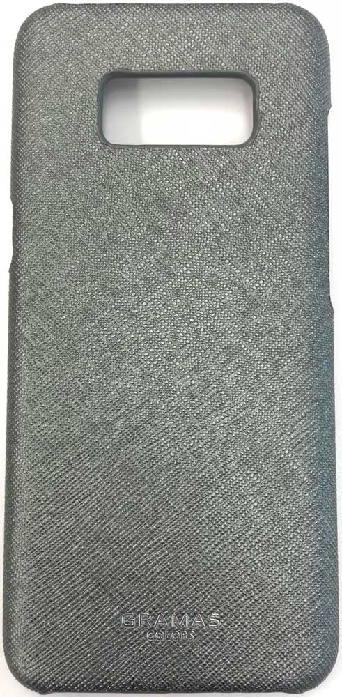 Клип-кейс Gramas Samsung Galaxy S8 Plus сафьяно Grey клип кейс samsung galaxy s9 plus silicone cover grey