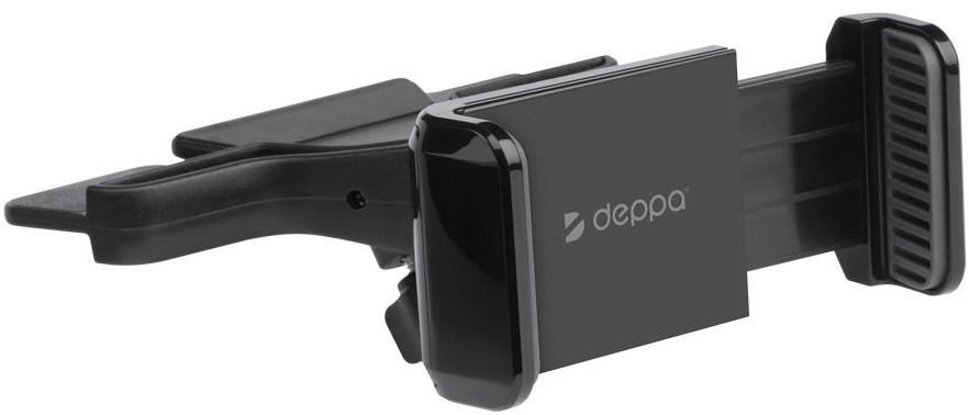 Держатель автомобильный Deppa Crab CD для смартфонов шириной 55-85 мм крепление в CD-слот black