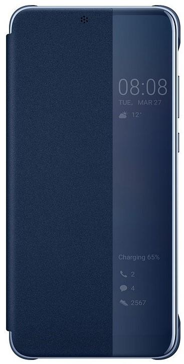 Чехол-книжка Huawei для P20 blue аксессуар чехол для huawei p20 lite neypo brilliant silicone light blue crystals nbrl4496
