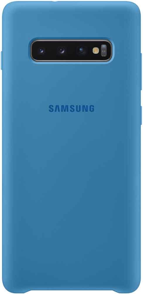 Клип-кейс Samsung Galaxy S10 Plus TPU EF-PG975TLEGRU Blue колонка krutoff s10 light blue