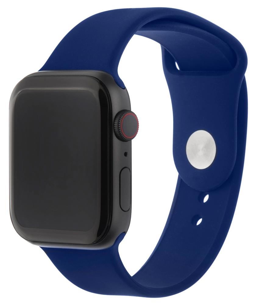 Ремешок для умных часов InterStep Sport Apple Watch 38/40мм силиконовый Blue фото