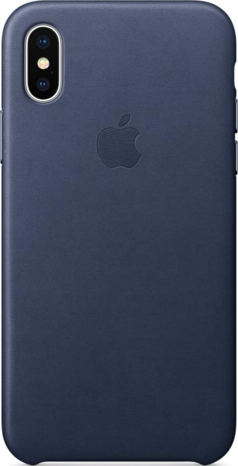 Клип-кейс Apple iPhone X кожаный Midnight Blue аксессуар чехол moshi kameleon для apple iphone x midnight blue 99mo101512