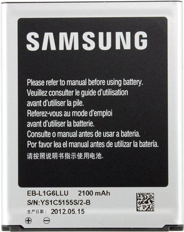 Съемный аккумулятор Samsung i9300 Galaxy SIII EB-L1G6LLUCSTD аккумулятор
