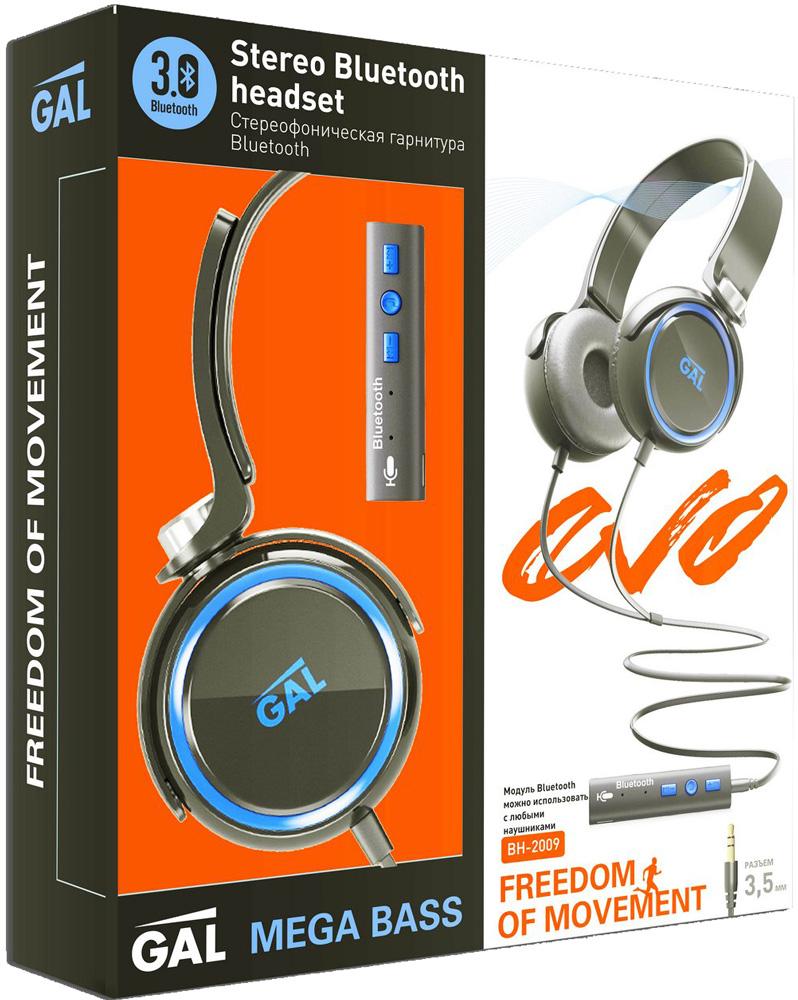 Беспроводные наушники с микрофоном Gal BH-2009 Black цена