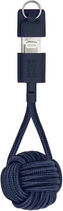 Дата-кабель Native Union Lightning-USB MFI брелок 0,15м Blue