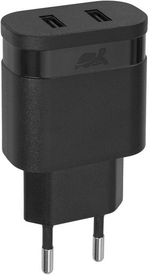 СЗУ Rivacase Rivapower 4122 BD1 RU 2 USB 2,4A + Дата кабель microUSB Black