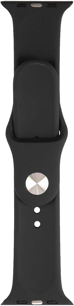 Ремешок для умных часов RedLine Apple Watch 38/40мм силиконовый Black фото 3