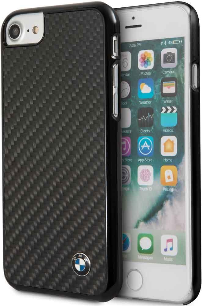 Клип-кейс BMW iPhone 7/8 карбон Black цена