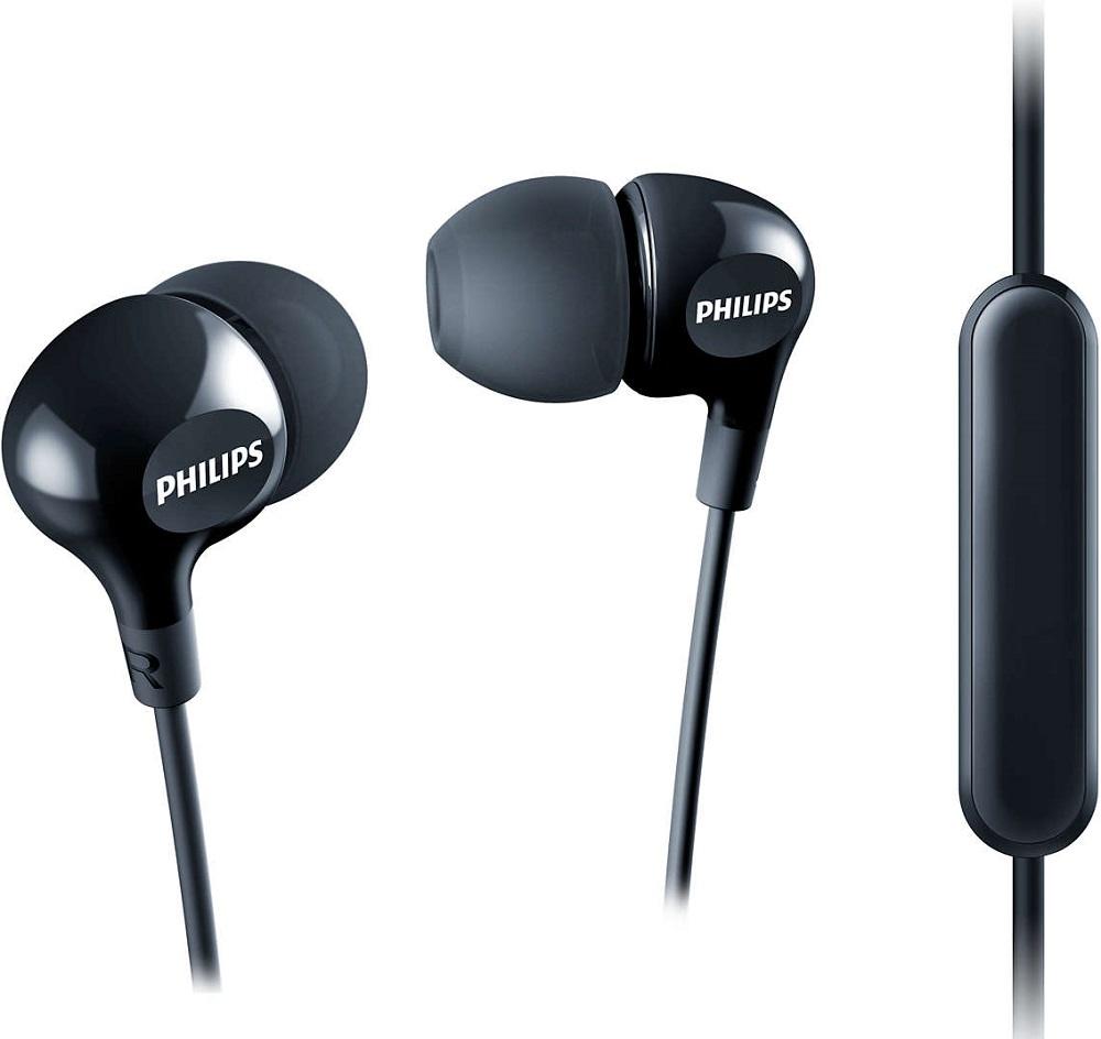Наушники с микрофоном Philips SHE3555BK Black philips she3555bk 00