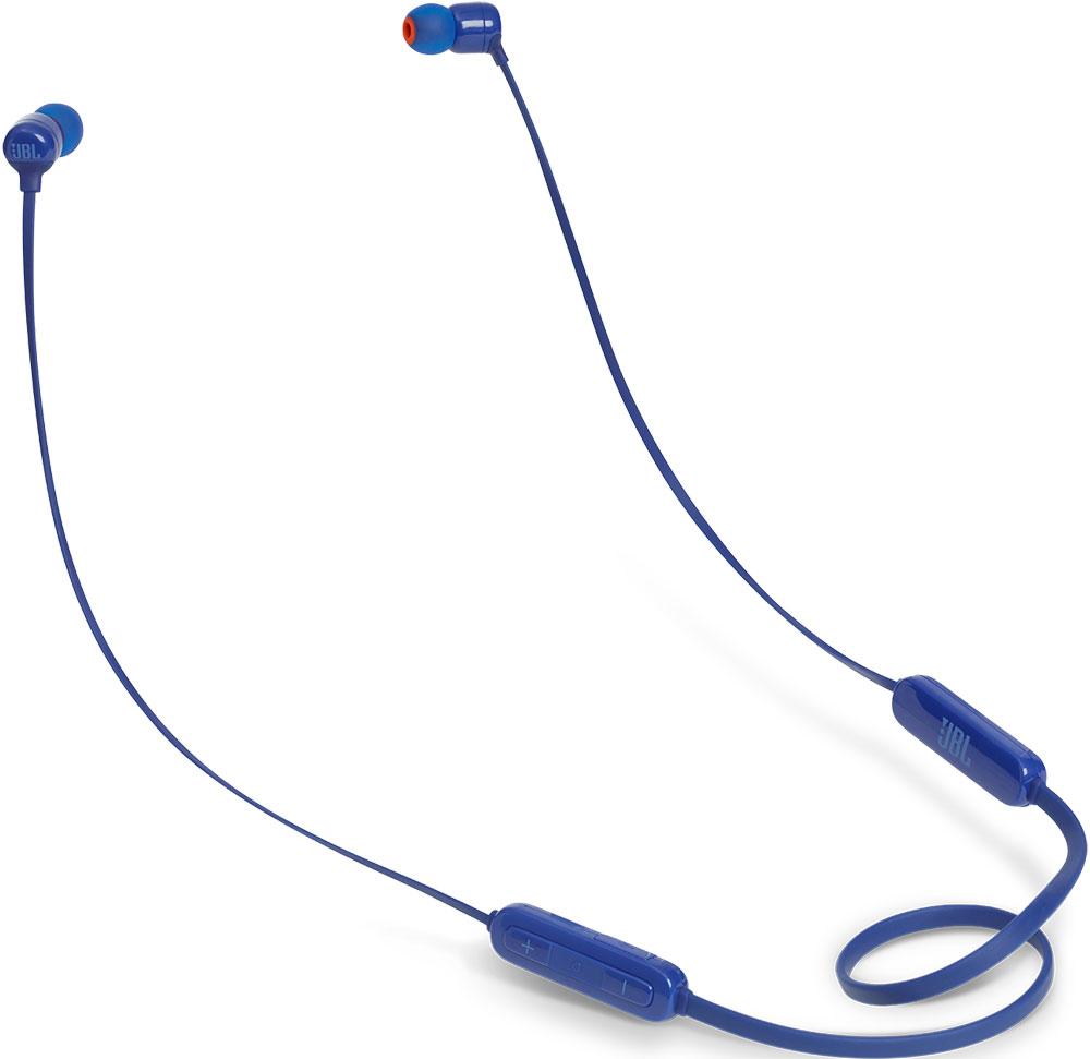 лучшая цена Беспроводные наушники с микрофоном JBL T110BT беспроводные Blue