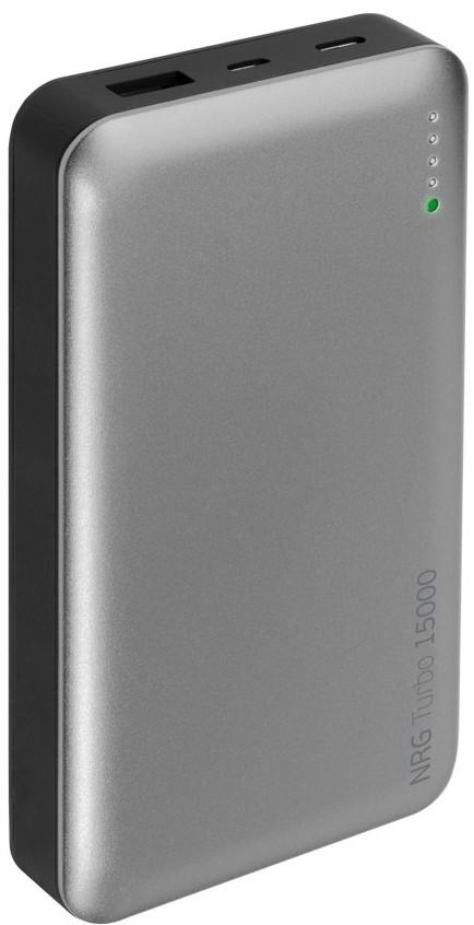 Внешний аккумулятор Deppa NRG Turbo 15000 mAh QuickCharge 3.0 Type-C графит